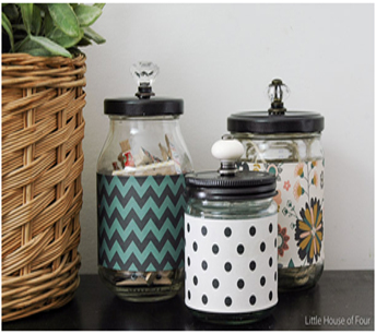 You can turn pickle jars into apothecary jars