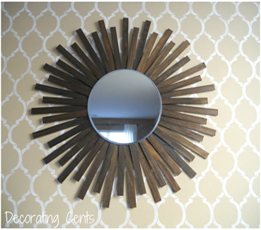 You can use some scrap wood to build a wall mirror in your house